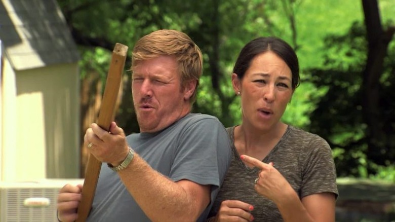 Chip and Joanna Gaines being silly