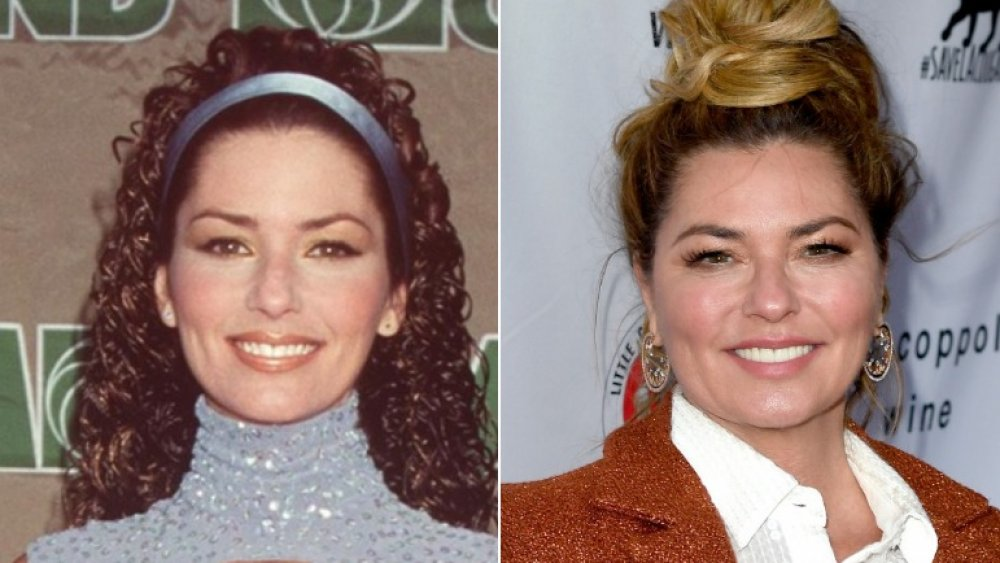 country star Shania Twain then and now