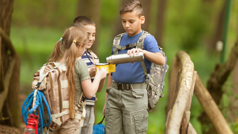 scouts children camping