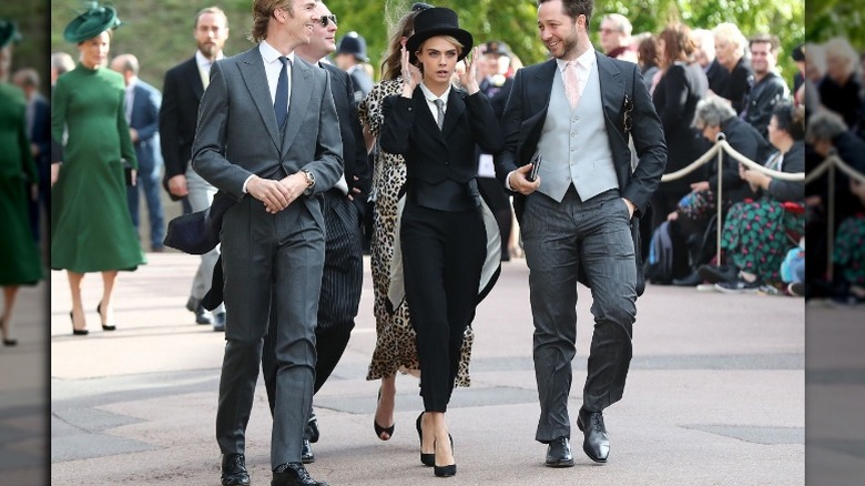 Cara Delevingne at Princess Eugenie's wedding