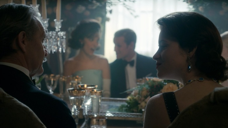 The Crown Jackie Kennedy and Queen Elizabeth dinner