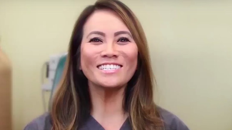 Dr. Sandra Lee smiling in one of her videos