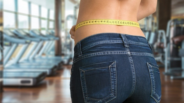 waist size tape measure weight loss