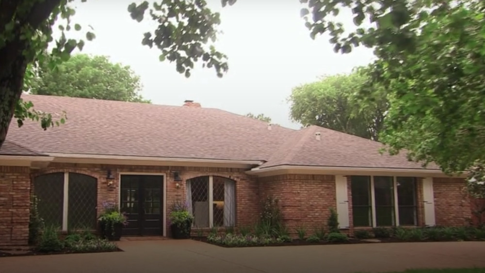 The exterior of The House of Symmetry from Fixer Upper