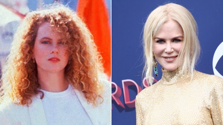 Nicole Kidman before and after natural hair