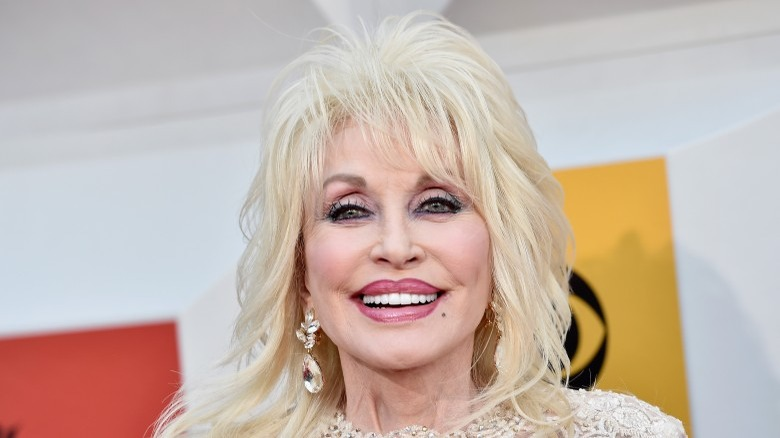 Dolly Parton wearing a wig
