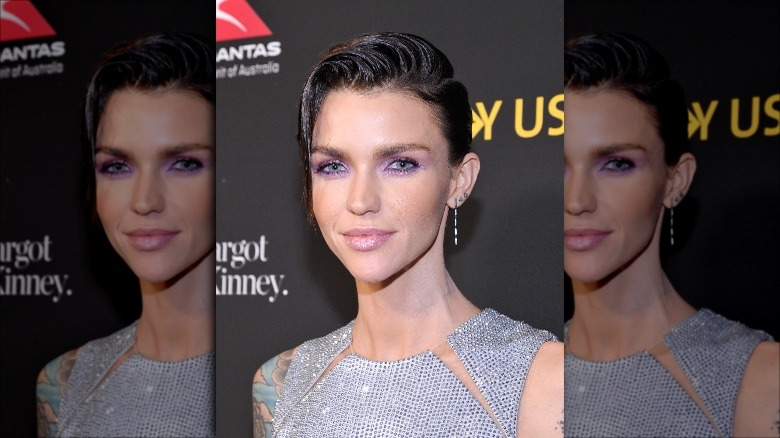 Ruby Rose showing off a short and slick haircut, which will be popular in 2020