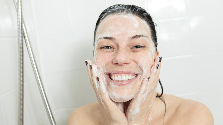 Here's why you shouldn't wash your face in the shower