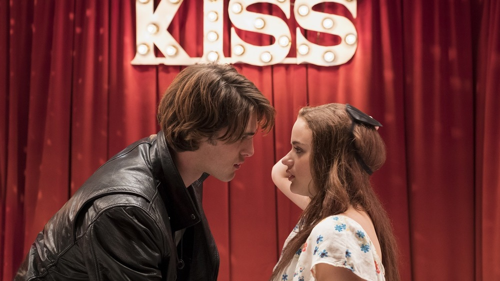Elle and Noah at the Kissing Booth