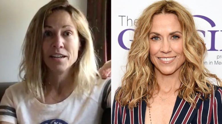 Sheryl Crow without and with makeup