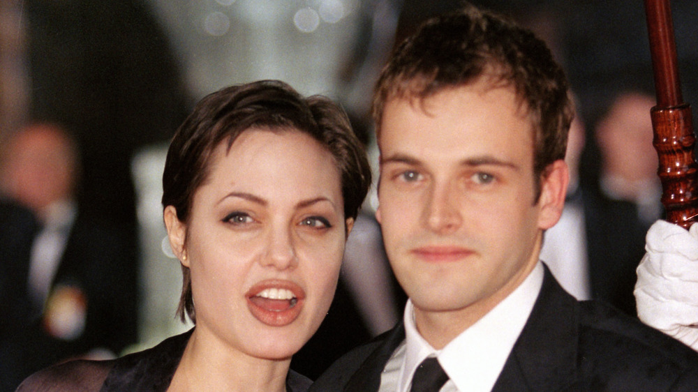 Angelina Jolie and Jonny Lee Miller, year unspecified