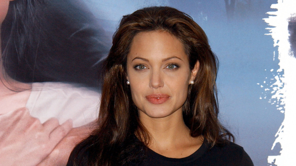 Angelina Jolie at a premier in Spain in 2003