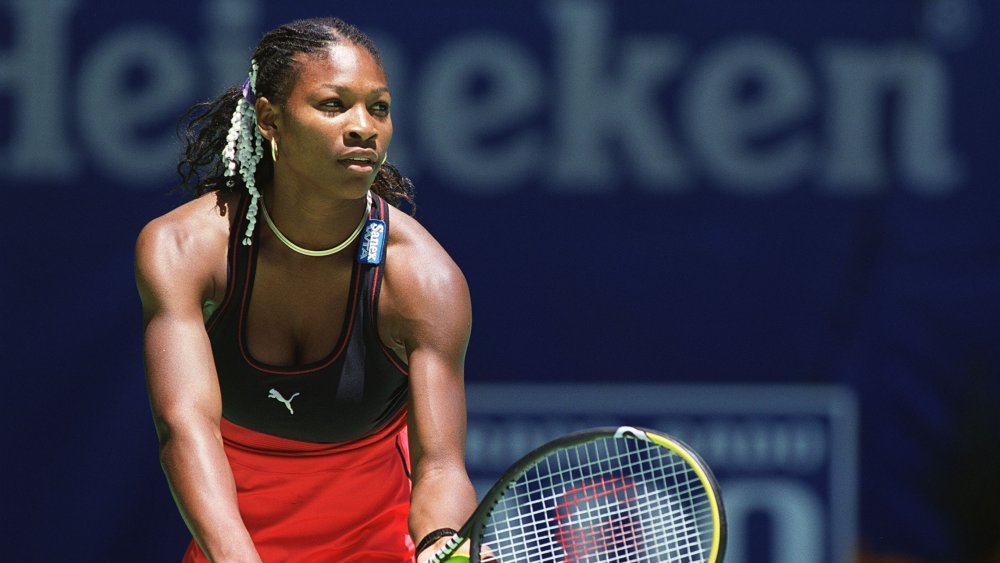Serena Williams playing tennis in Australia in 2000