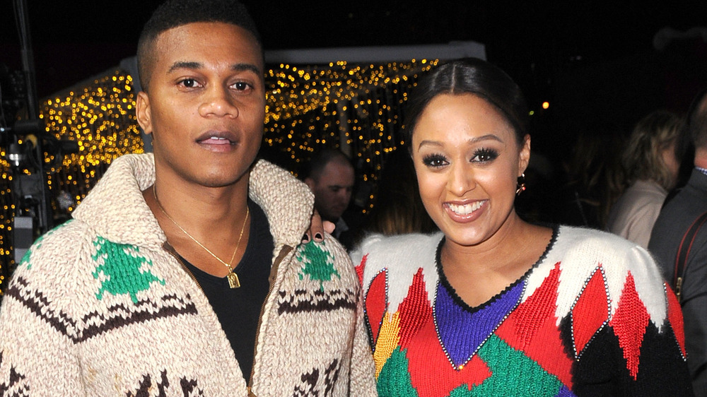 Cory Hardrict, Tia Mowry at a premiere