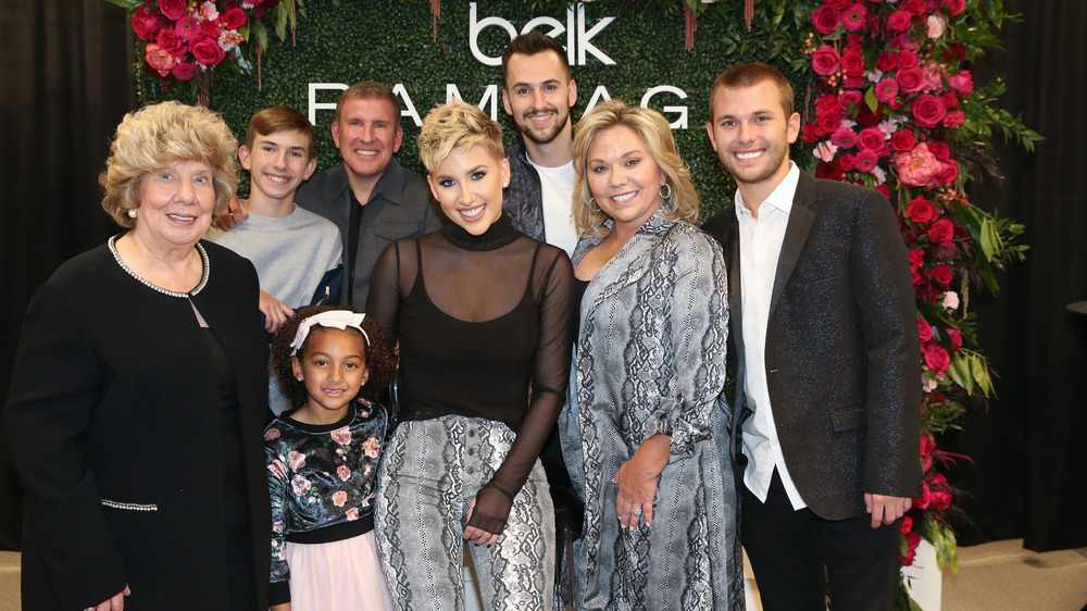 The Chrisley family at a brand launch