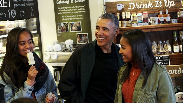 Malia, Barack, and Sasha Obama