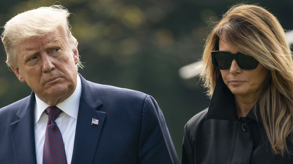 This Is The First Time Donald Has Been Seen With Melania Since Leaving D.C.