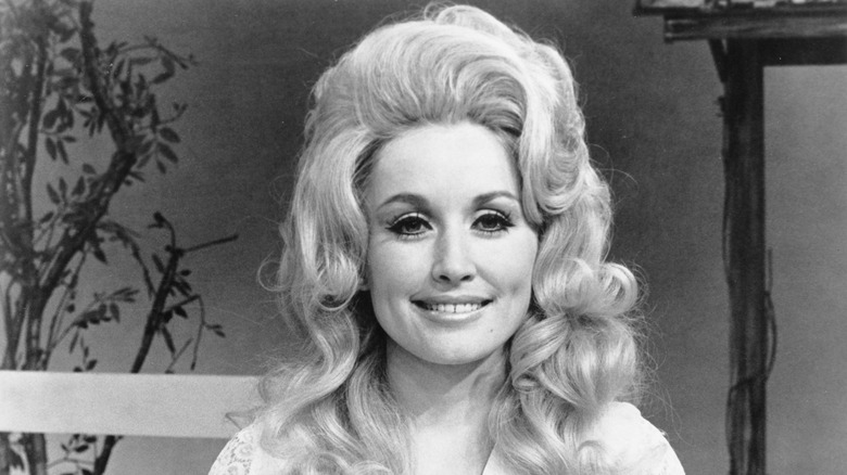 Dolly Parton in 1972, smiling