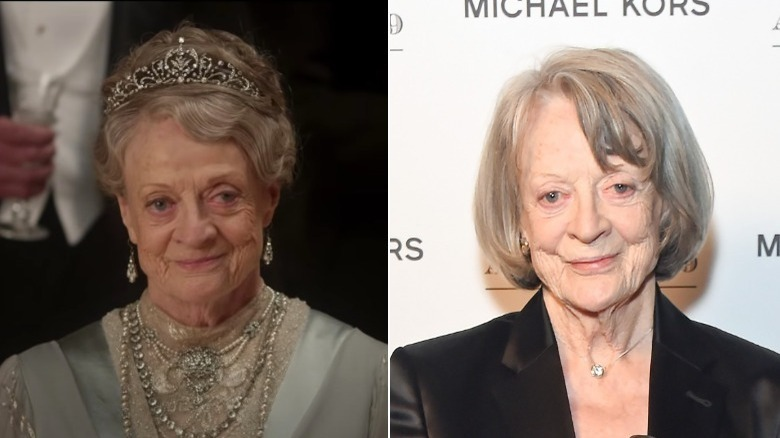 Maggie Smith, split image