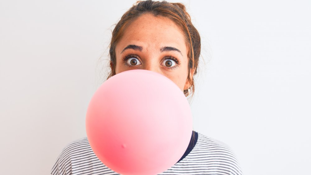 woman chewing gum